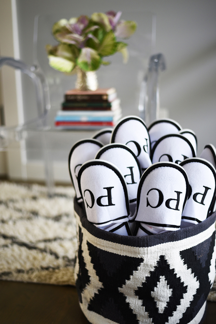 slippers in a basket