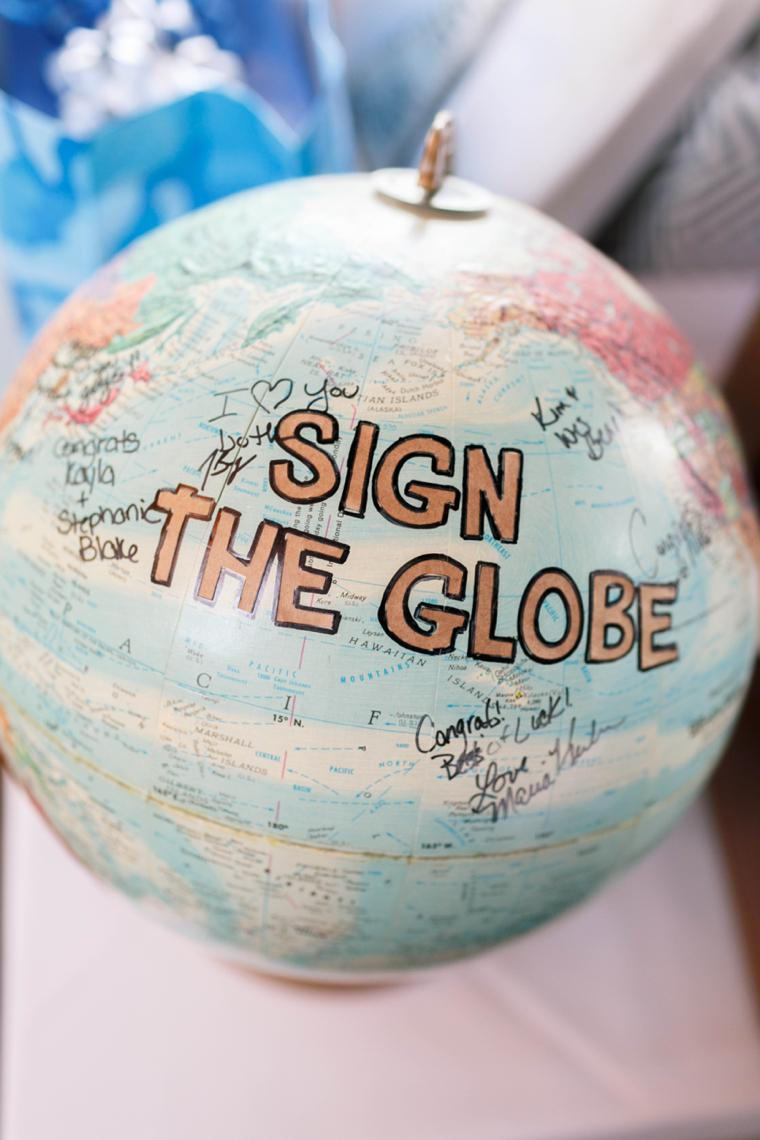 'SIGN THE GLOBE' world globe